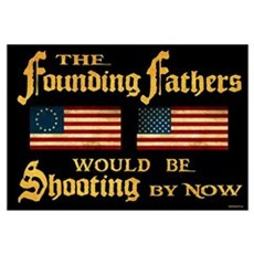 Founding Fathers Shooting Framed Print